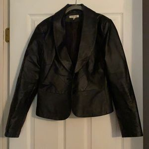Yvonne & Marie cropped leather jacket size M